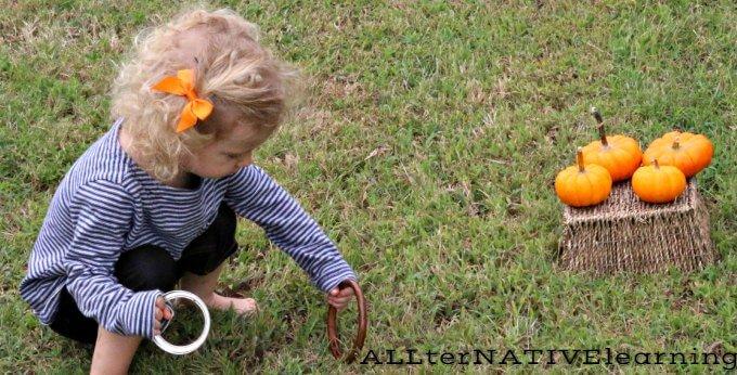 Fall Carnical Pumpkin Ring Toss Game | ALLterNATIVElearning