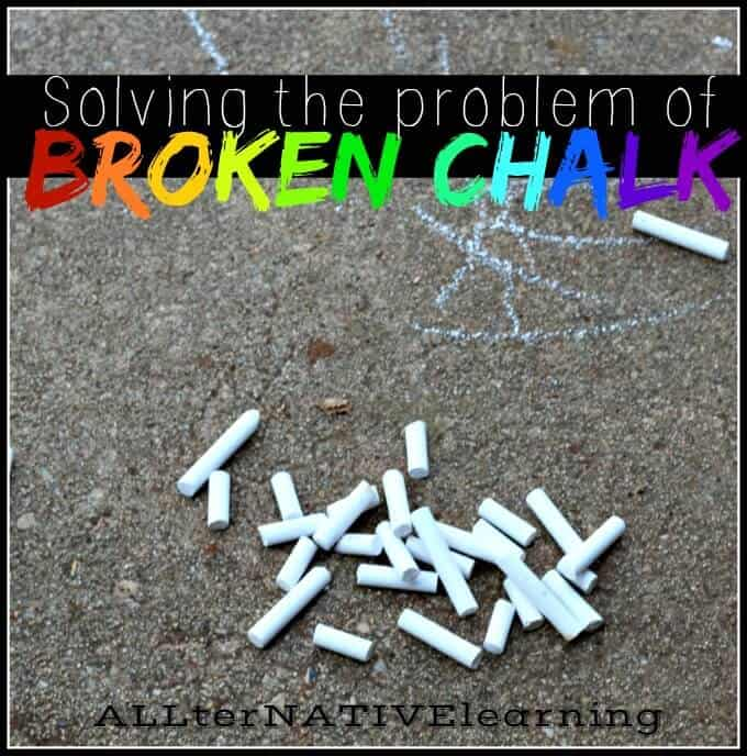 Ideas for how to fix broken chalk and not waste it | ALLterNATIVElearning