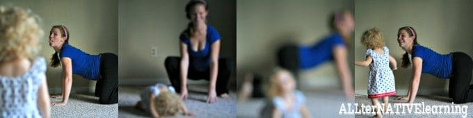 Out takes from exercising with a toddler | ALLterNATIVElearning