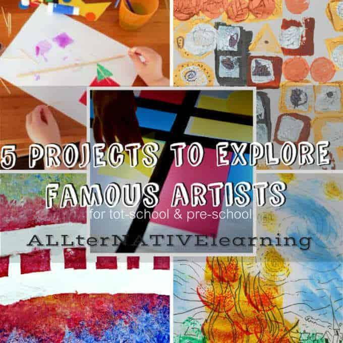 5 projects to explore famous artists and fine arts for preschoolers and toddlers | ALLterNATIVElearning.com