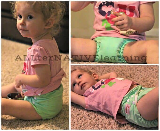 Action Shots of FuzziBunz One Size Diaper Small | ALLterNATIVElearning