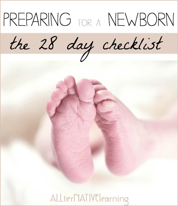 preparing for a newborn the 28 day checklist
