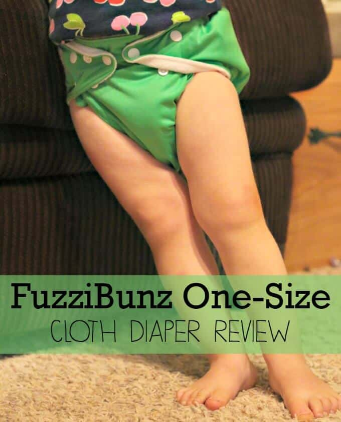 The new FuzziBunz One-Size Cloth Diaper Review with leg adjusters, hip snaps, and contoured inserts (wings). | ALLterNATIVElearning