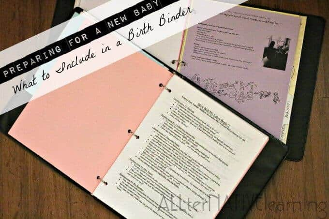 What is a birth binder, why should I make one, and how should I assemble it? Preparing for a new baby and for labor and childbirth. | ALLterNATIVElearning
