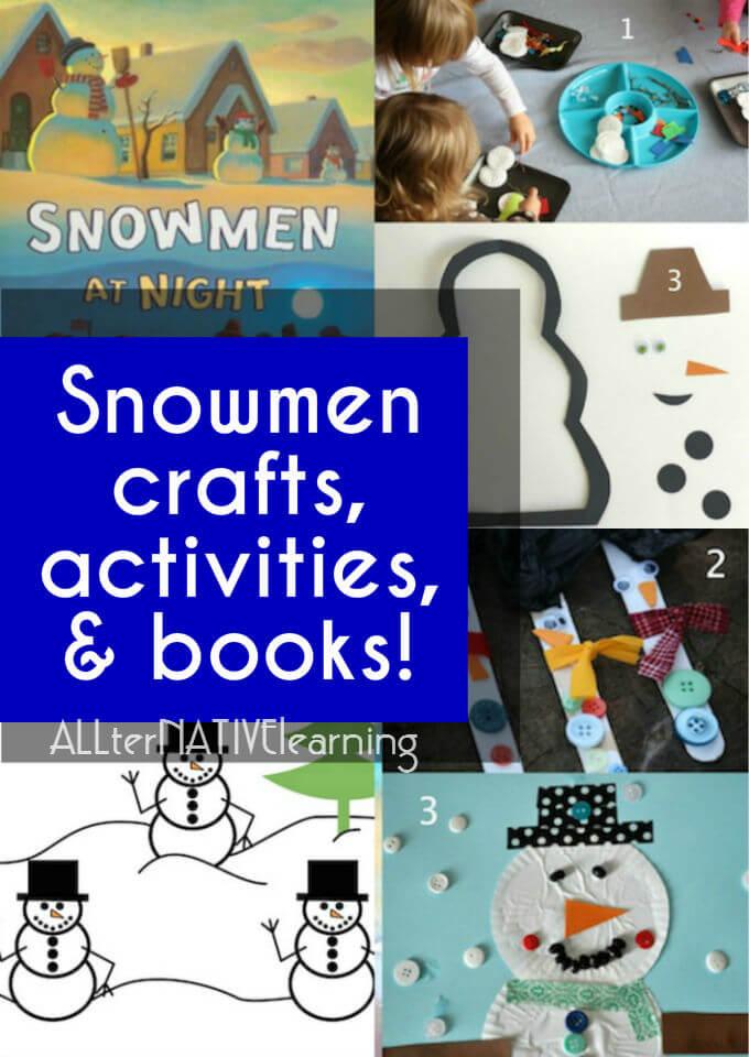 Snowmen crafts and activities | ALLterNATIVElearning