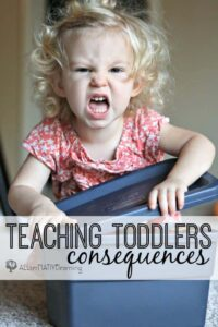 Teaching toddlers consequences for their choices and actions | ALLterNATIVElearning.com
