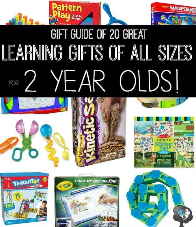 Tot school gift Guide for 2 year olds including 20 ideas of stocking stuffers, Small, Medium, and Large gifts | ALLterNATIVElearning