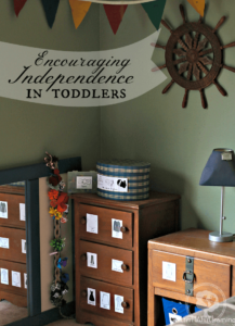 Encouraging Independence in toddlers through a planned home environment | ALLterNATIVElearning