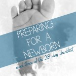 Preparing for a Newborn checklist - week 3 of 4 on ALLterNATIVElearning