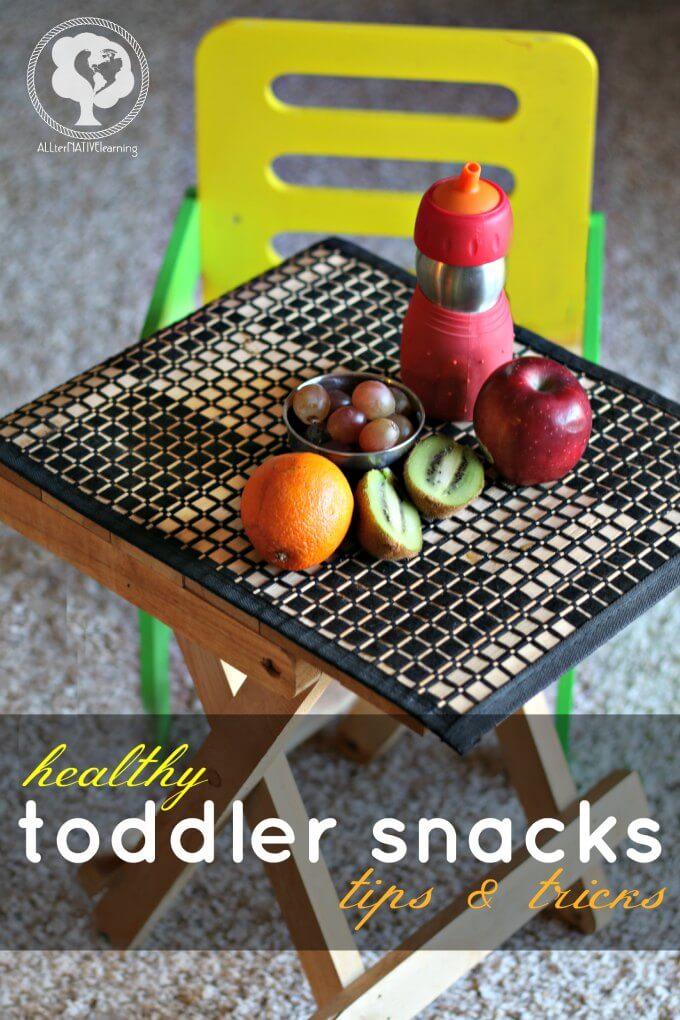 Healthy Toddler Snacks - ways to help kids eat healthier