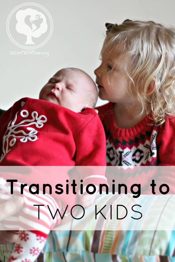 Transitioning to two kids - the reality of the first weeks home alone.