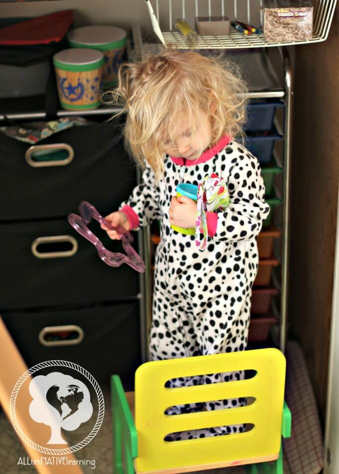 Teaching toddlers and babies to problem solve by using step stools and other ideas.