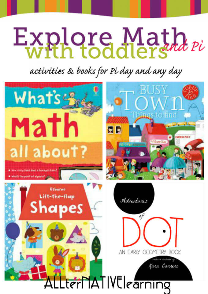 Math books and activities for toddlers to celebrate pi day or any day