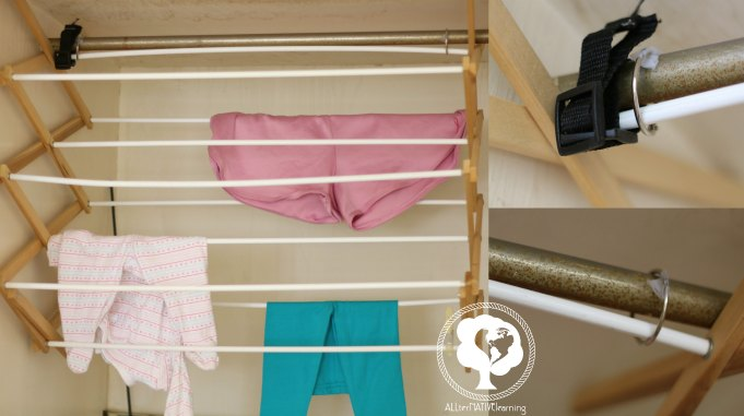 how to hang a clothing rack for more space