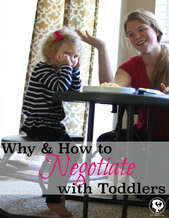 why negotiate with toddlers