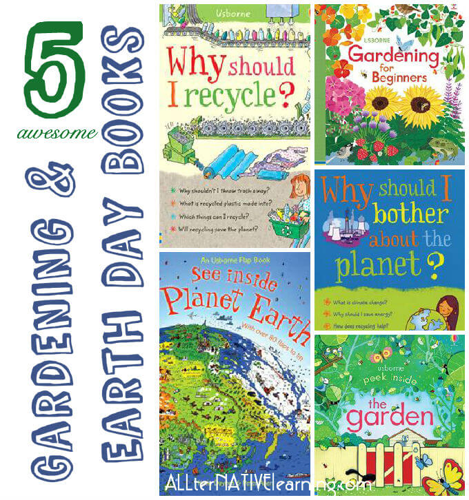 gardening and books for earth day