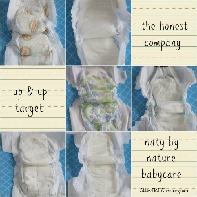 honest company up and up naty nature babycare diaper review