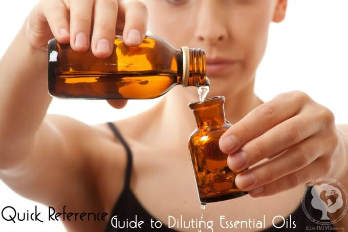quick reference guide to diluting essential oils
