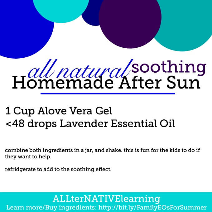 all natural soothing homemade after sun treatment