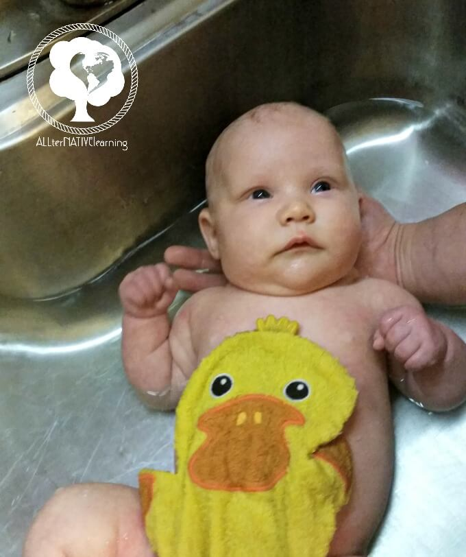 no need for baby bath