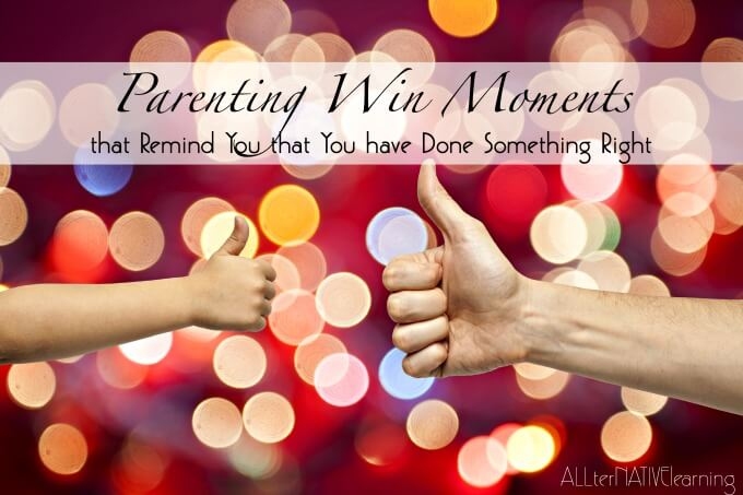 #ParentingWin moments from toodler through teen that reassure you you're doing something right.