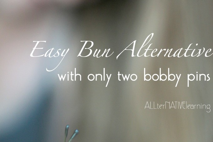 Easy hair bun alternative even for long hair