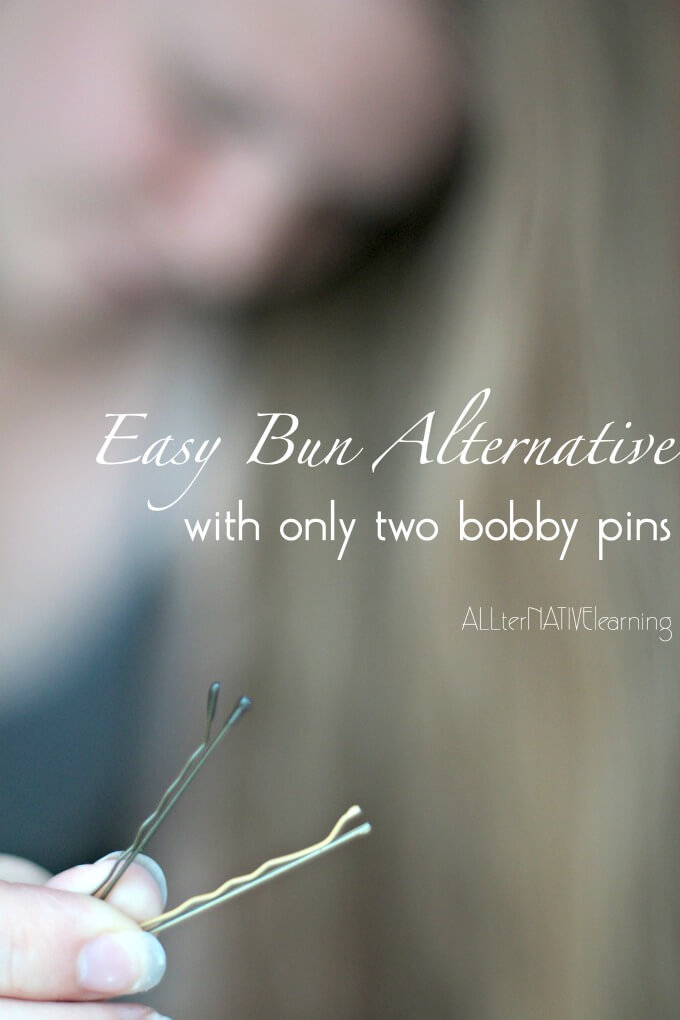 Easy hair bun alternative even for long hair