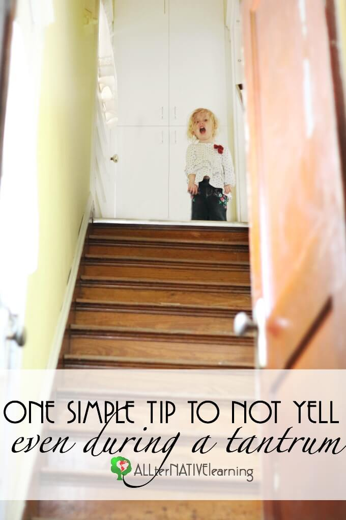 One simple tip that help parents not yell at their kids during tantrums and that helps kids calm down.