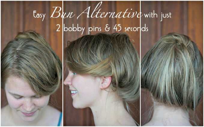 quick easy hair bun alternative