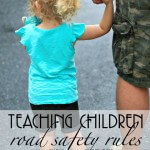 Simple rules to teach children to be safe around the street - includes free printable