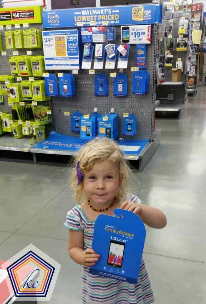 Get a month of Walmart Family mobile for the kids to keep them safe on vacation (and entertained too).