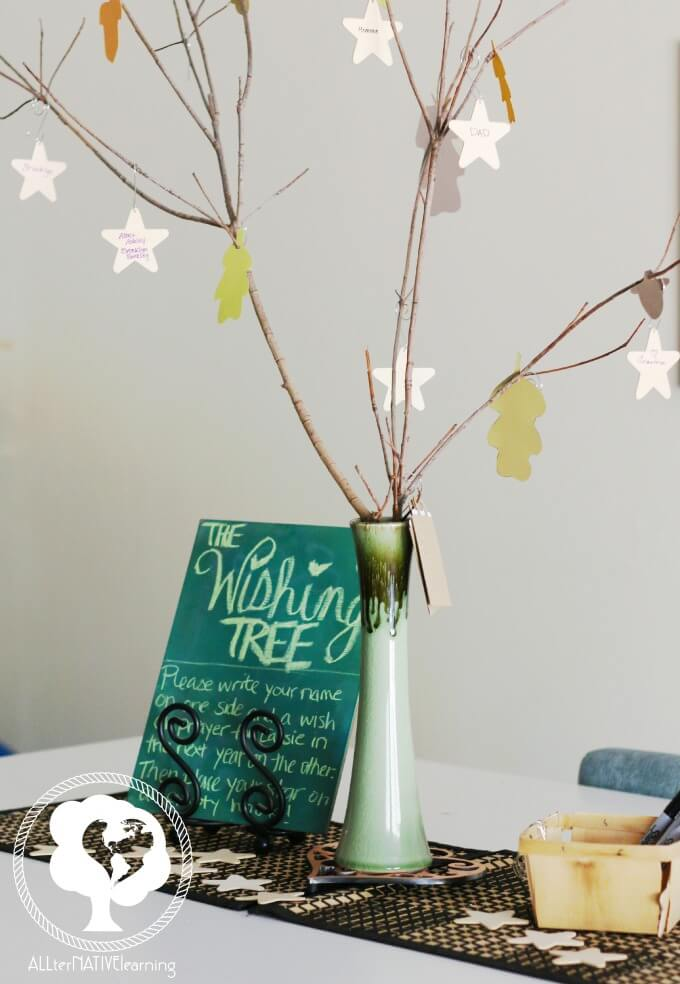How to make a birthday wishing tree.