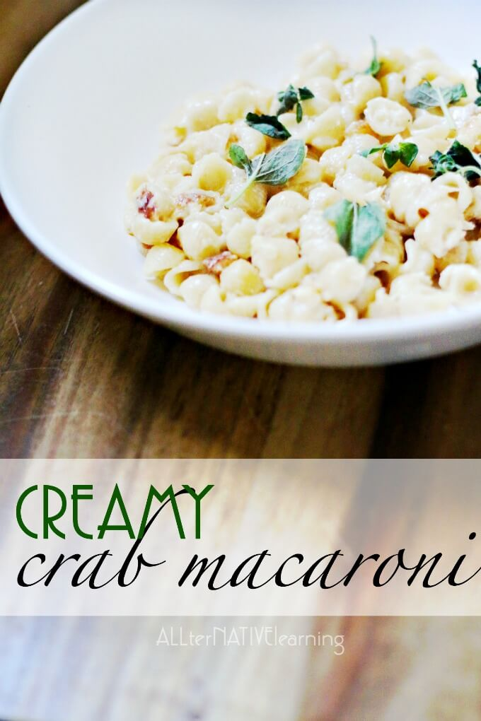 Rich and creamy crab macaroni and cheese recipe