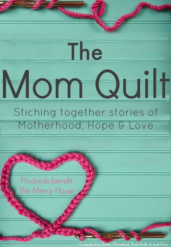 Buy The Mom Quilt to read stories of motherhood and support a water well in Kenya
