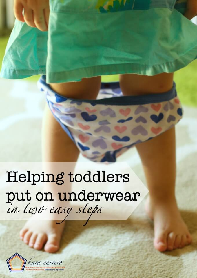 How to help your kids wear toddler underwear and put it on themselves