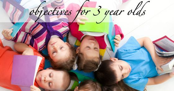 Preschool Curriculum - Learning Objectives for 3 years olds