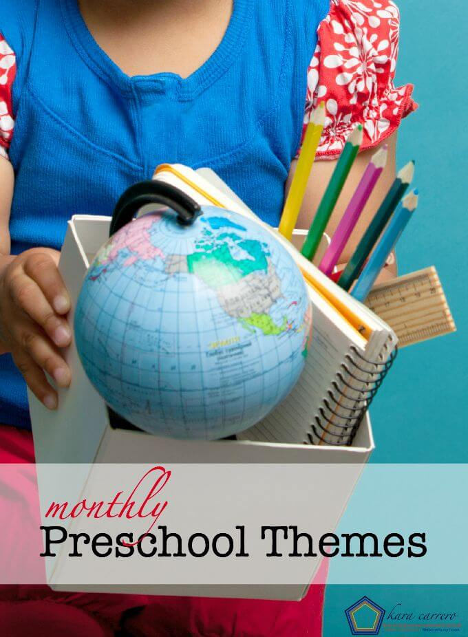Monthly preschool themes and topic ideas to use at home or in a classroom. For toddlers and preschoolers.