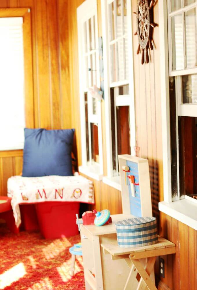 Enclosed Porch Playroom Inspiration