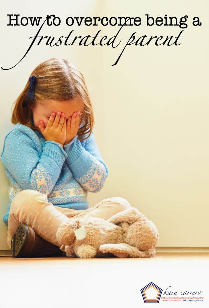 How to work on overcoming being a frustrated parent - whether it's bad behavior, discipline issues, or anything. See how to work through it.