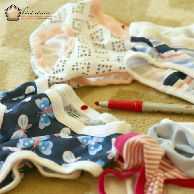 Quick tip for toddler underwear and helping your kids dress themselves independently