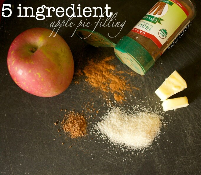 5 ingredient apple pie filling