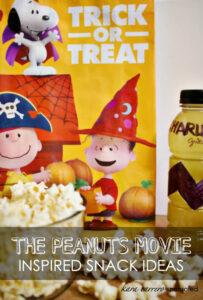 Peanuts Movie Inspired Snacks