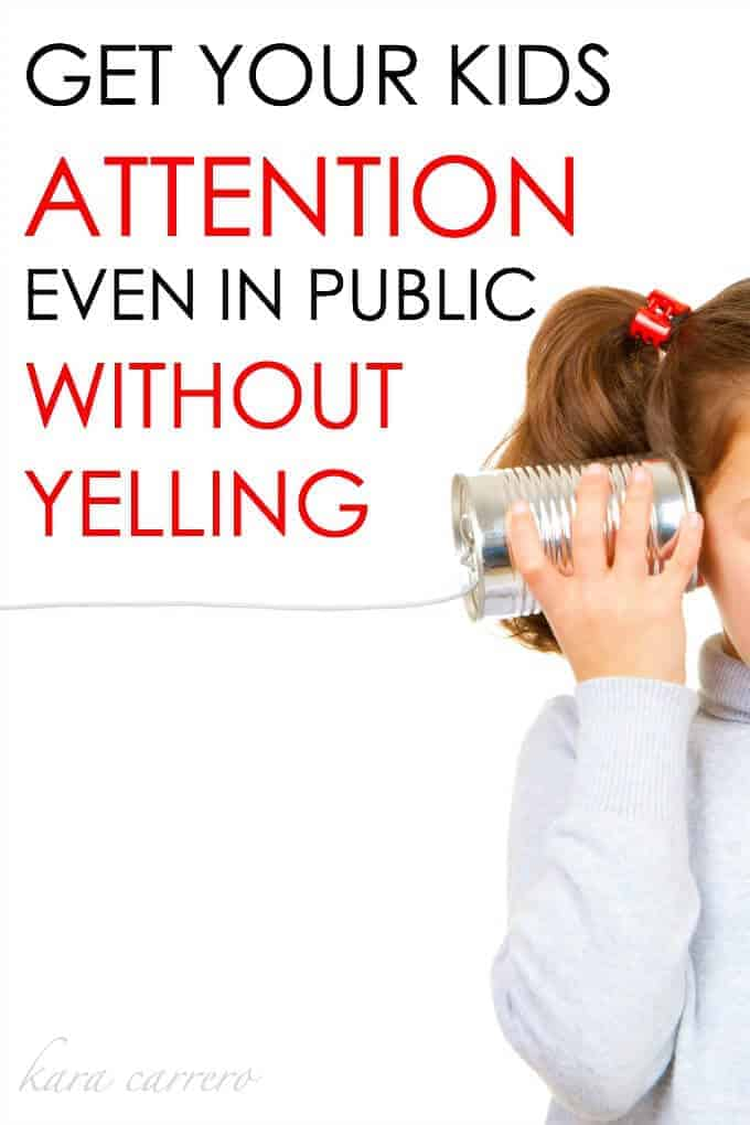 The secret to getting your kids attention in public without yelling and by using a family whistle.