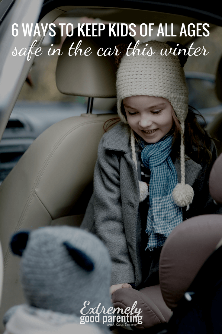 Ways to keep children safe in the car this winter. Thick coat alternatives that allow them to ride safely in any car seat, booster seat, or with a seatbelt on.