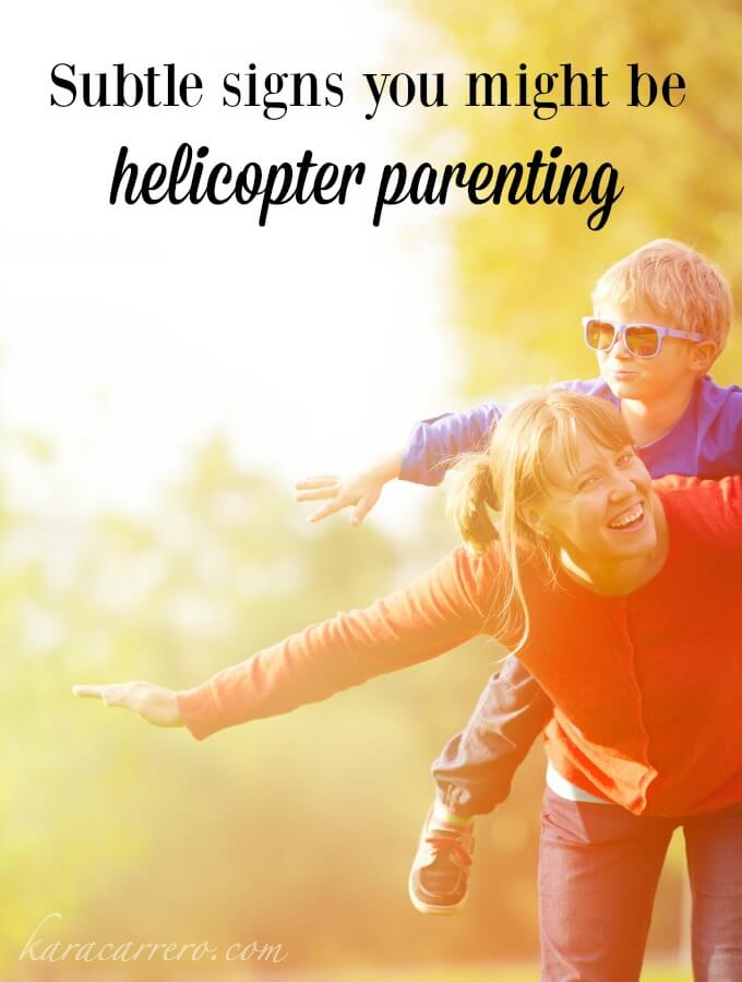 5 subtle signs that you may be more of a helicopter parent than you think. What ways can you enable your kids without perpetuating entitlement?