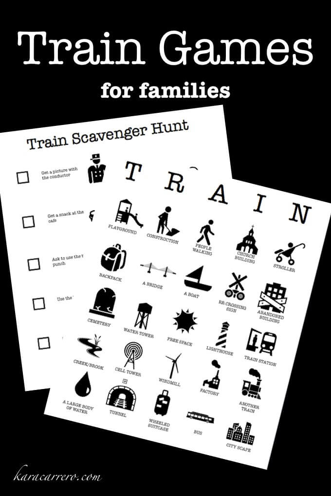 photo relating to Printable Train known as Prepare Online games - Teach Bingo for people