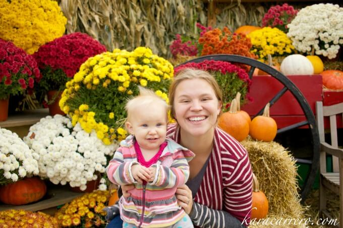 fall foliage with mom
