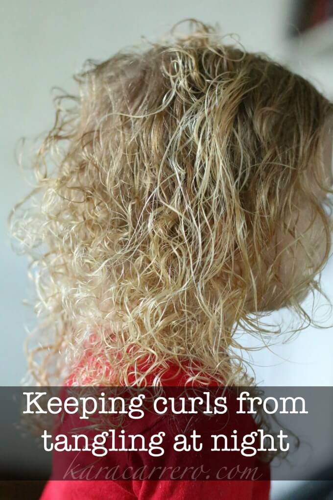 A simple solution to keep wet hair and curls from tangling at night