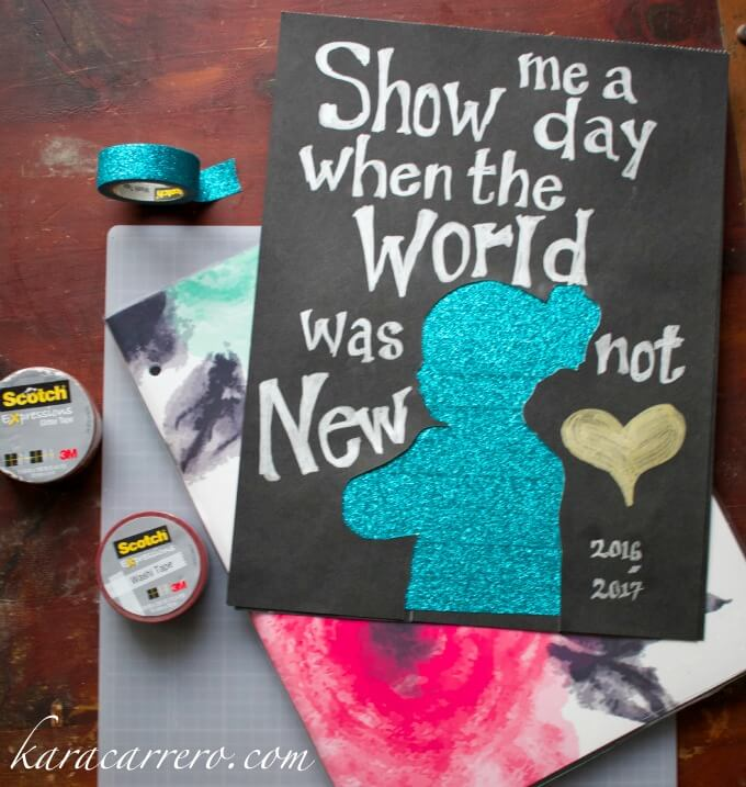 How to make the perfect washi tape silhouette craft gift to be framed or even to make a personalized washi tape planner