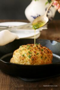 butter drizzled cauliflower recipe